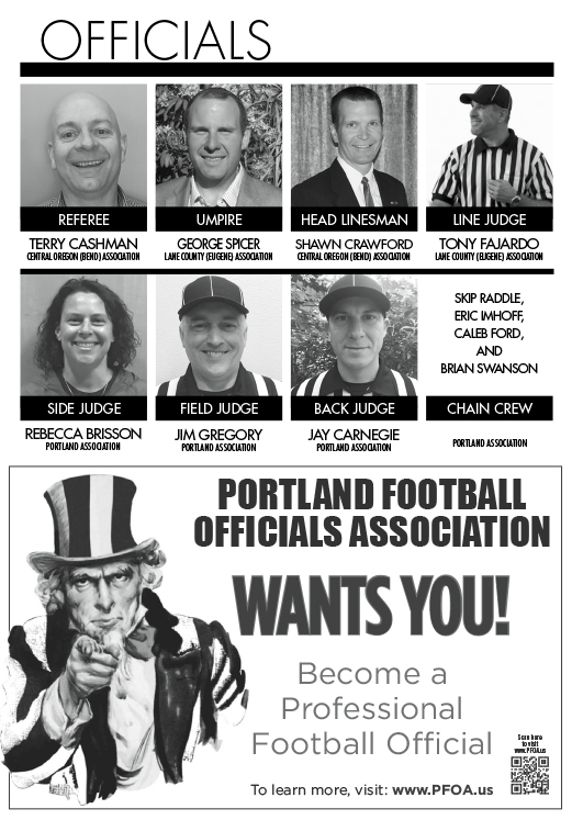 2017 Les Schwab Bowl Officials